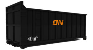 40 m³  Abrollcontainer Länge: ca. 7,00 m Breite: ca. 2,30 m Höhe: ca. 2,45m